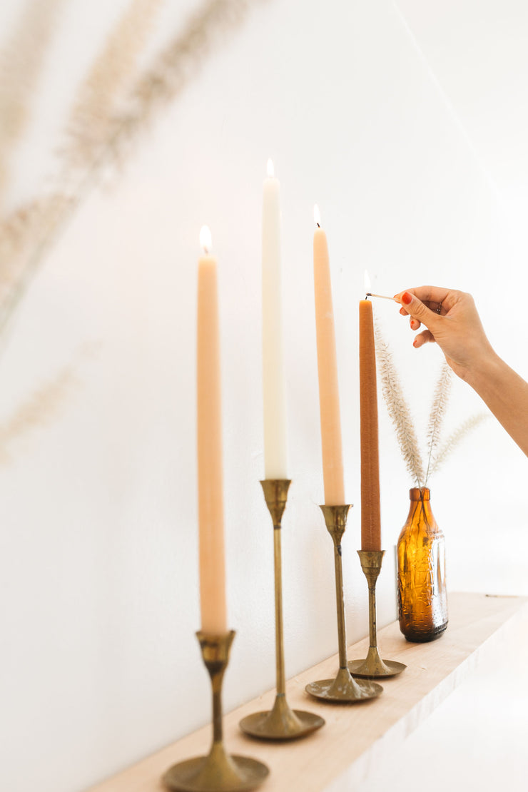 KM Handmade Taper Candle Set