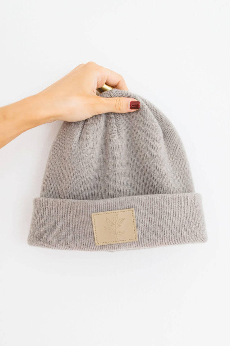 KM Knit Beanie in Earl Grey