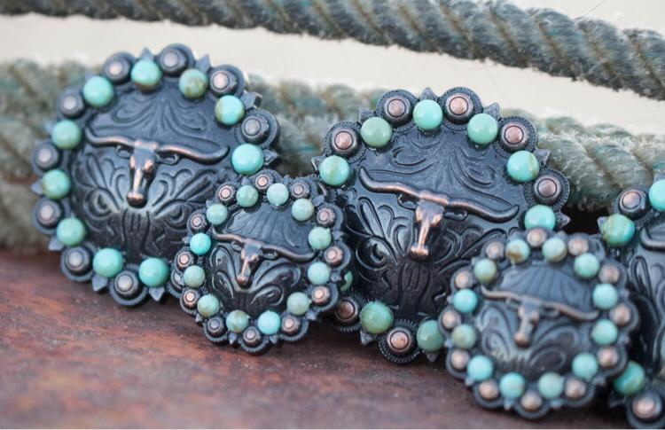 201 CUSTOM CONCHO - Antique Longhorn and Turquoise