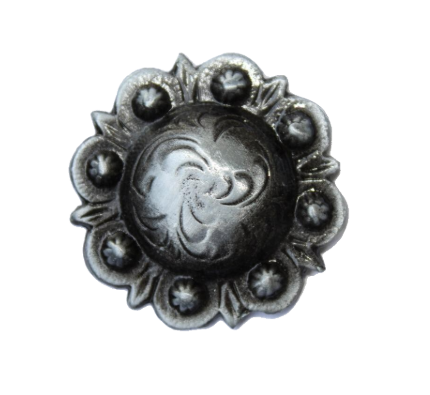 029 STANDARD CONCHO - Blackened Silver