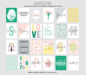 Cartes à imprimer pour Project Life Beautiful Story
