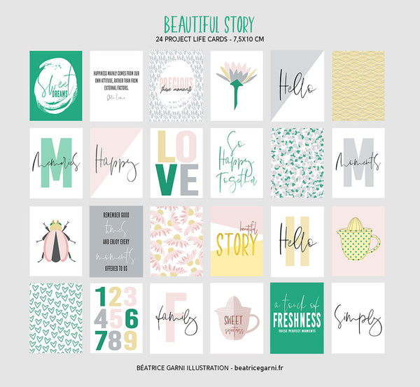Project Life Cards to print - Beautiful Story