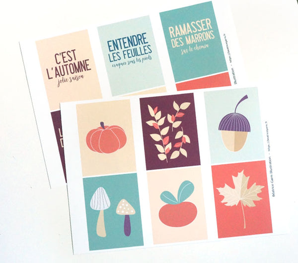 Project Life Cards to print - Autumn