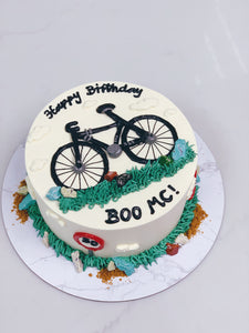 Bicycle Cake with Grass