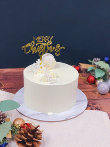 White and gold Xmas Cake