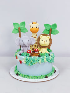 Safari Cake with 3 Animals