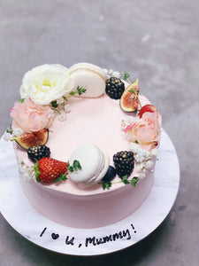 Floral and Fruit Wreath Cake