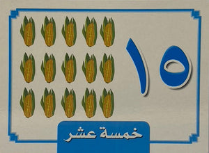 Arabic Number Flash Cards 1 to 20  (20cmx16cm) 21 Cards