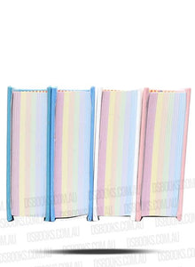 Quran 9.5x12.5cm Rainbow Pages Dusty Pink