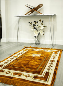 Luxury Prayer Mat With Kaba Design (117cmx69cm) Bronze
