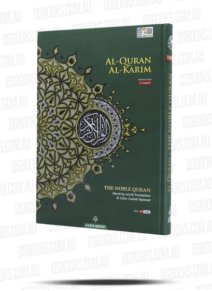 (Maqdis) Al-Quran Al Kareem Word by Word The Noble Quran Colour Coded Tajweed (A4 30.5.5cmx22cm) Green