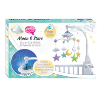 Moon & Stars Cot Mobile with Remote Control, Light Projection