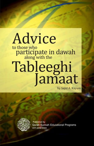 Advice To Those Who participate With The Tableeghi Jamaat-0