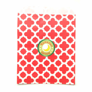 Ramadan party favor bags red
