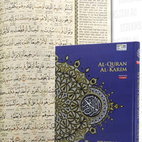 (Maqdis) Al-Quran Al Kareem Word by Word The Noble Quran Colour Coded Tajweed (A4 30.5.5cmx22cm) Purple