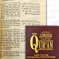 The Qur'an Arabic Text with Corresponding English Meanings