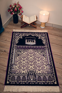 Dark Purple Prayer Mat Turkish