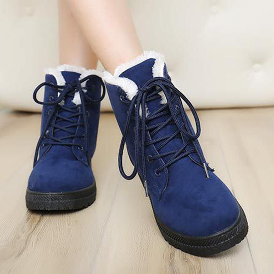 3031ff01206c4 ... Load image into Gallery viewer, Plain Flat Velvet Criss Cross Round Toe  Casual Date Outdoor ...