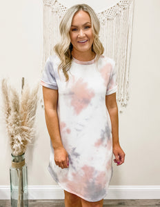 Short Sleeve Tie Dye Pocket Dress