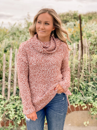 Lake House Cowl Neck Sweater
