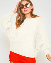 Load image into Gallery viewer, Slouchy Horizontal Cable Knit Sweater