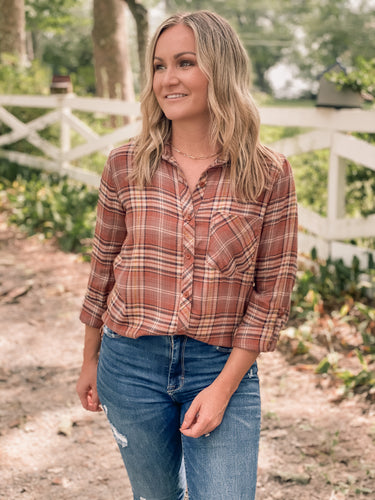 Pumpkin Patch Flannel Shirt