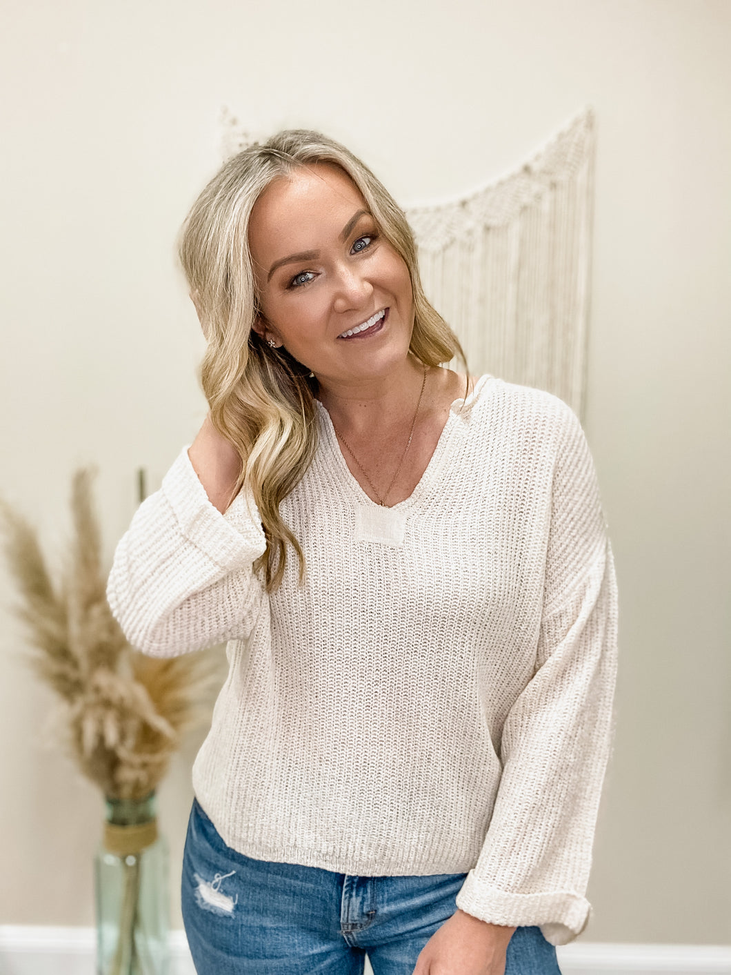 Sweet Cream Lightweight Sweater