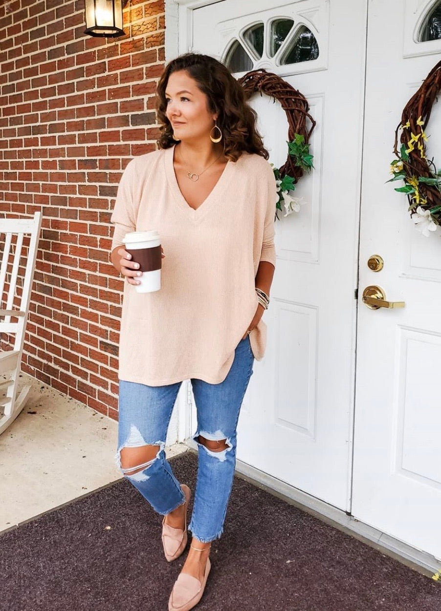 Cold Brew Oversized Top