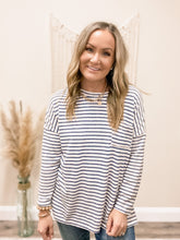 Load image into Gallery viewer, Striped Long Sleeve Pocket Top