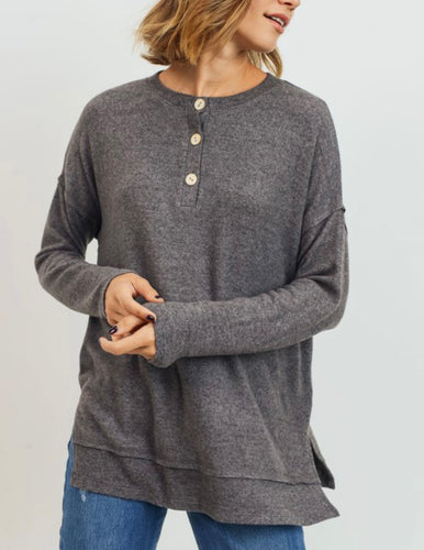 Super Soft Henley Top