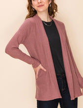 Load image into Gallery viewer, Brushed Waffle Cardigan