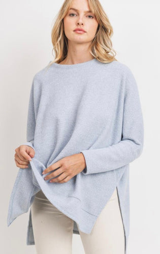 Blue Oversized Thermal Top