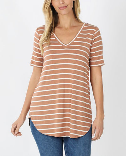 Simple Stripes Tunic Top