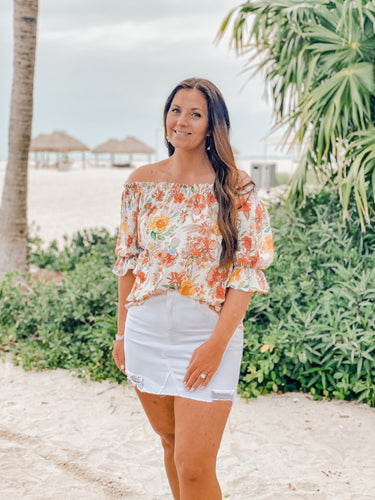 Rum Punch Off the Shoulder Blouse