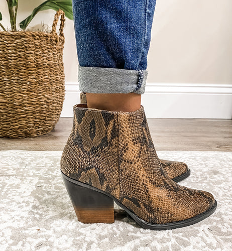 Very G Two Tone Booties