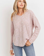 Load image into Gallery viewer, Brushed Waffle V-neck Top (3 colors)