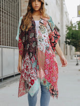 Load image into Gallery viewer, Mint Patchwork Kimono