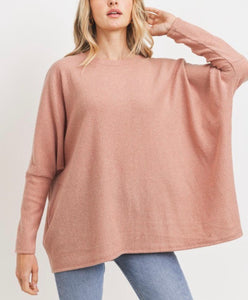 Flowy Brushed Rib Top