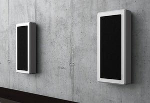 DLS-FLATBOXMONE-BLK-On-Wall-Speaker