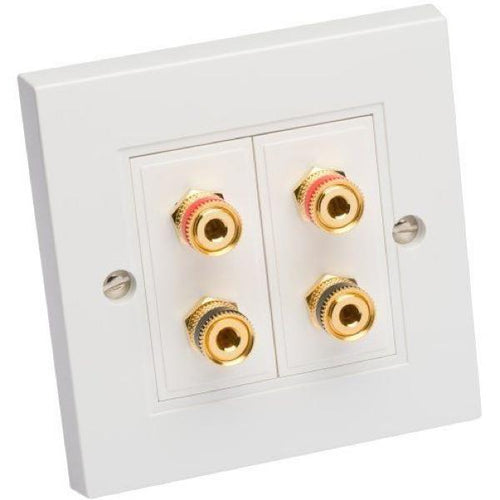 Ceiling-Speakers Single Wall Plate For 1 Pair Of Speakers White (Each)