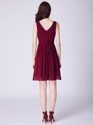 Short Party Dress Burgundy