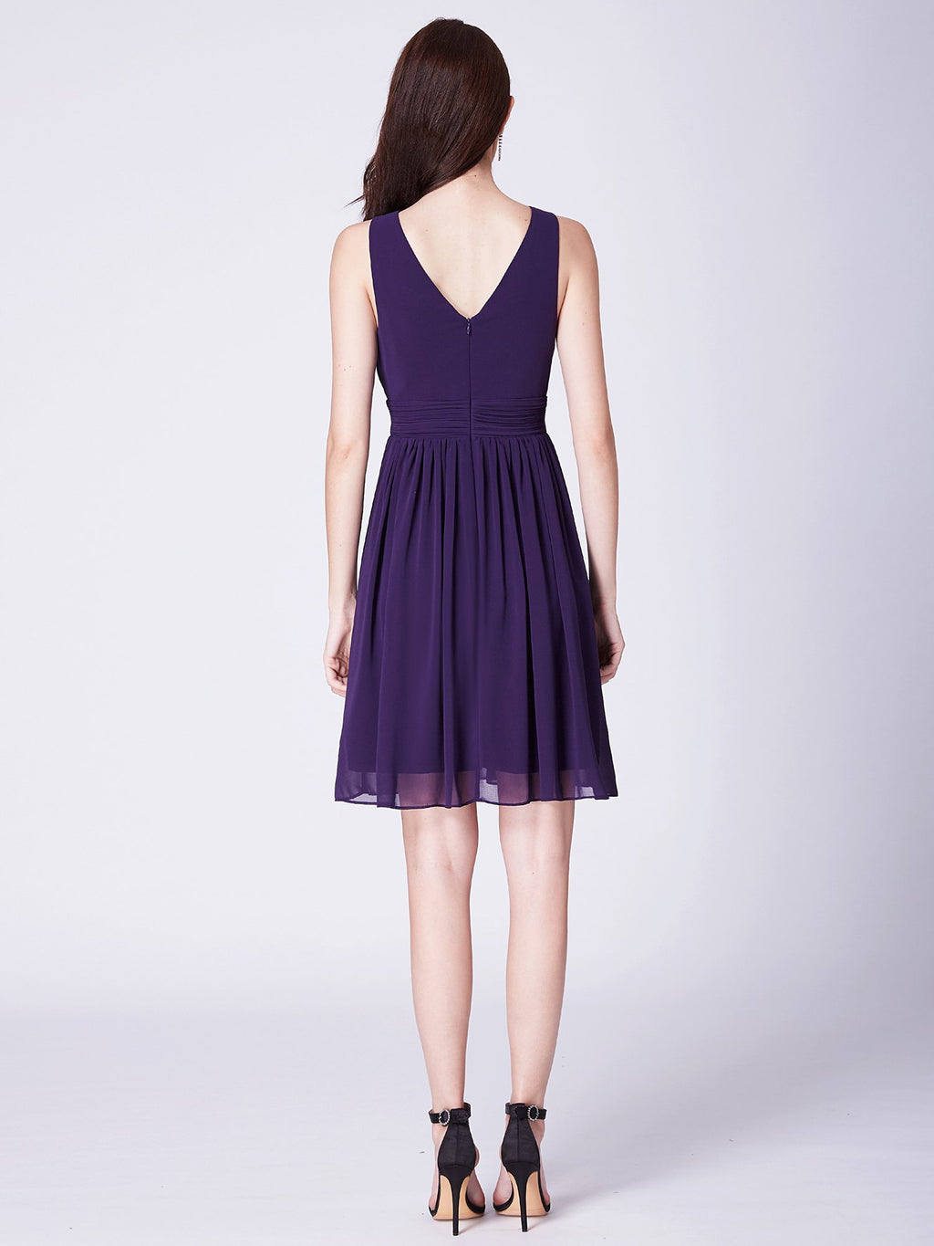 Short Party Dress Dark Purple