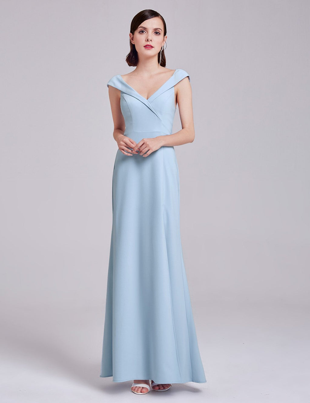 Tulip Sleeves Long Dress Blue