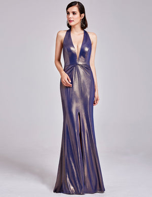 Sexy Front And Back Party Long Dress