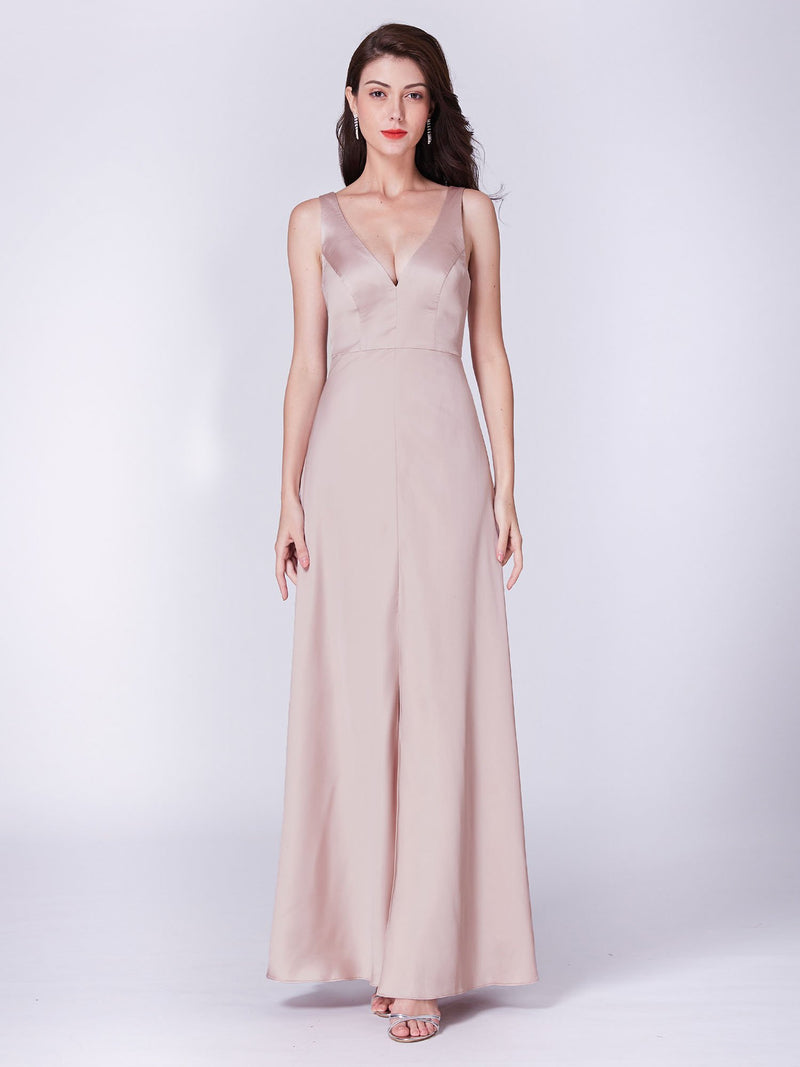 Sexy Neckline Simple Pretty Long Dress
