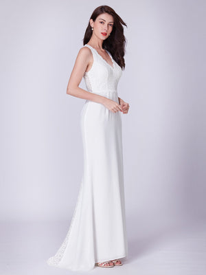 Formal Grand Long Maxi Dress Cream