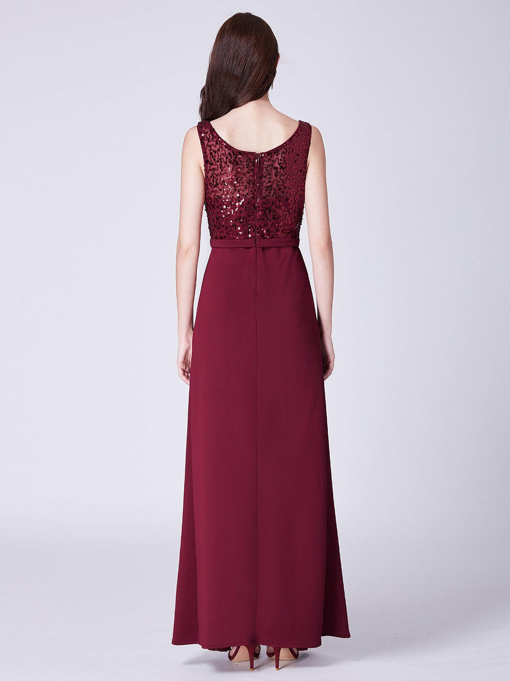 Sequins Formal Maxi Gown Burgundy