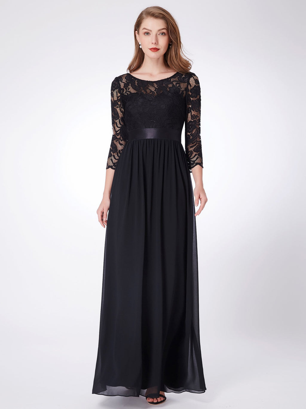 Lace Polyester Gorgeous Gown Black