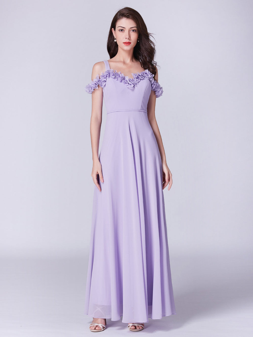 Romantic Neckline Lovely Gown