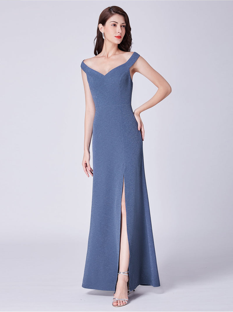 Side Slit Romantic Gown